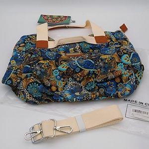 Floral Canvas Shoulder Tote Bag Purse